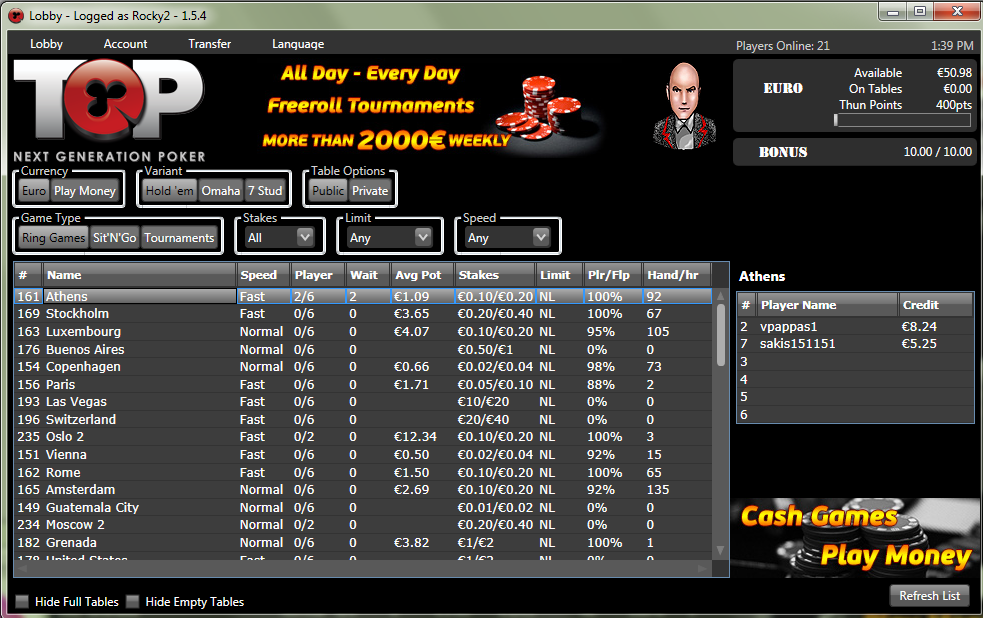 Poker systems online